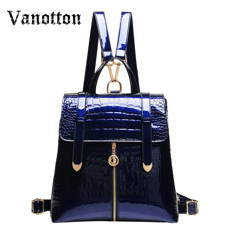 Famous Brand 2017 Design Pu Women Leather Backpacks School Bag Student Backpack Ladies Women Bags Leather Package Female
