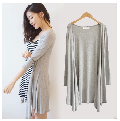 Online Shop Summer women's long thin Cardigan plus size long ...