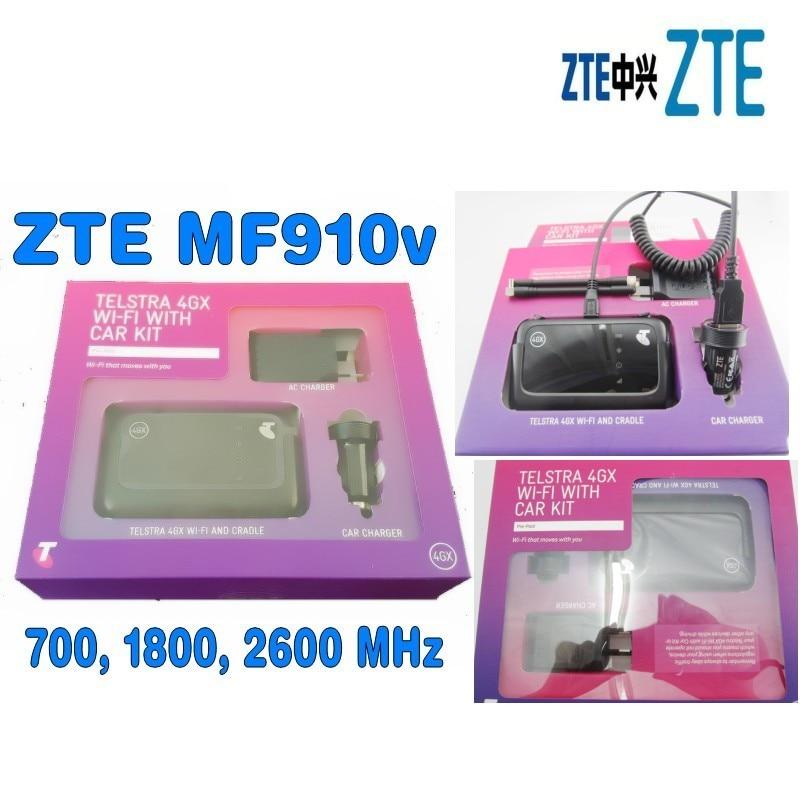 UNLOCKED Telstra ZTE MF910V Wifi 3G 4G 4GX mobile broadband modem with Car 2pcs antenna zte mf910 mf910v 4g lte mobile wifi wireless pocket hotspot router modem unlocked