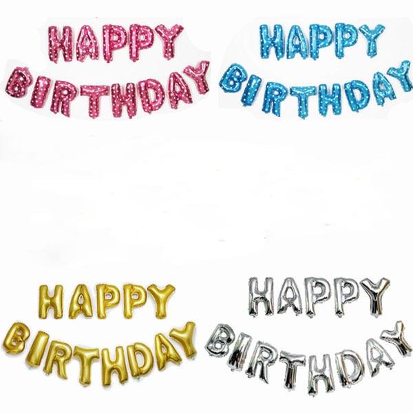 13pcs/lot 16 inch Letter Happy Birthday BALLOON Aluminum Foil Balloon Baby Birth