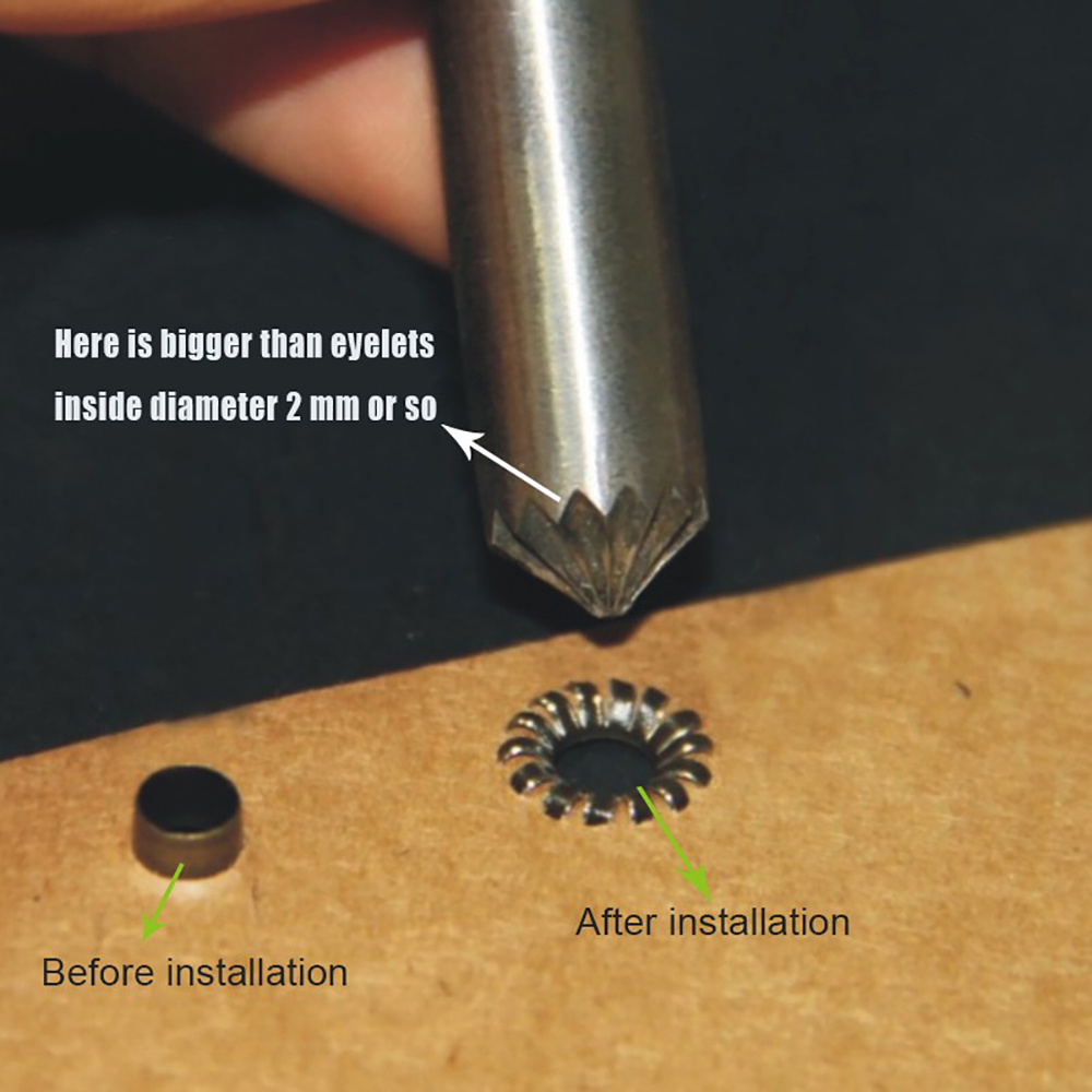 (1set/lot)3mm-12mm cracking of eyelet punch tool. Eyelets installation tool Button mold Clothing & Accessories