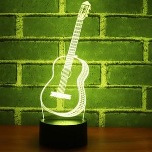 3D LED Night Light Music Guita