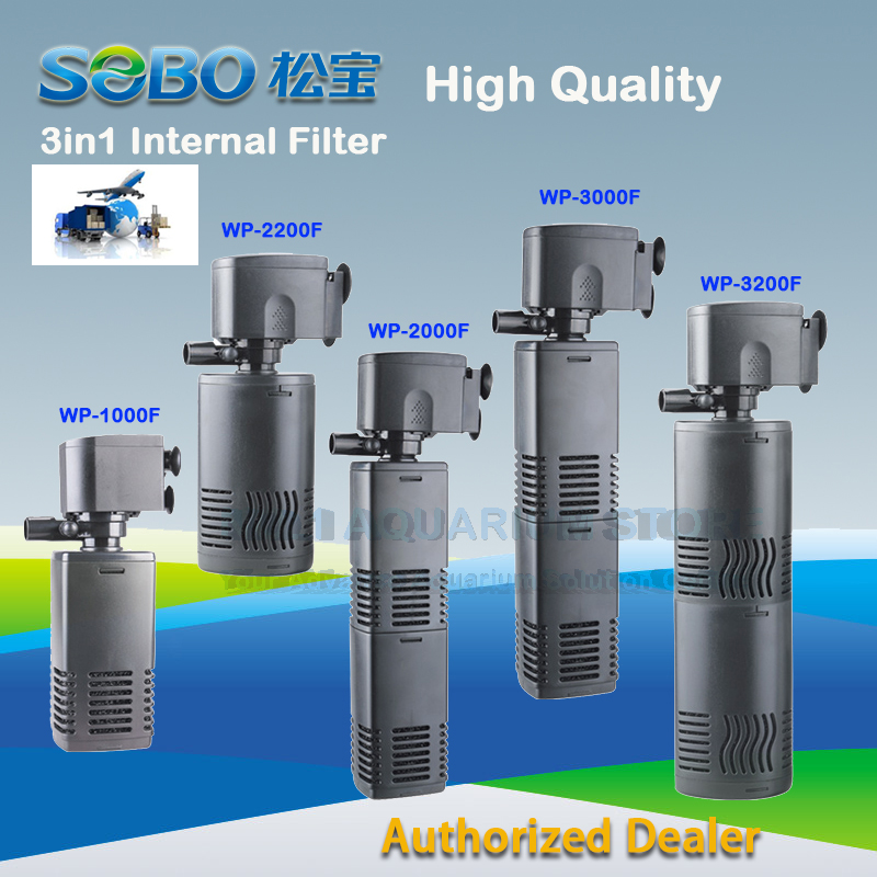 Brand New SOBO 3In1 Silent Internal Aquarium Filter Submersible Water Pump WP-1000F/2200F/2000F/3000F/3200F