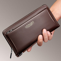 LEINASEN Brand Genuine Cow Leather Long Wallet Man High Quality Waterproof Clutch Handbags Billeteras Male Purse