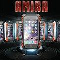 Mais novo AMIRA para iPhone 5S SE impermeável à prova de choque de fibra de carbono de Metal + vidro Gorilla Anti impacto armadura com vidro temperado