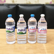 1:6 Scale 4pcs Dollhouse Mineral Water bottle Miniature Toy Doll Food Kitchen Living Room Accessories Kids Gift Pretend Play Toy