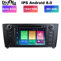 4G RAM Android 8.0 Octa core Car DVD Player GPS for BMW E81 E82 E88 120 1 Series with Radio Wifi Nav, Video System, 32GB ROM