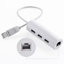 Ugreen USB 2.0 Ethernet for Windows 10 Xiaomi Mi Box 3 Android TV Set-top Box USB 2.0 HUB to RJ45 USB Lan Adapter Network Card