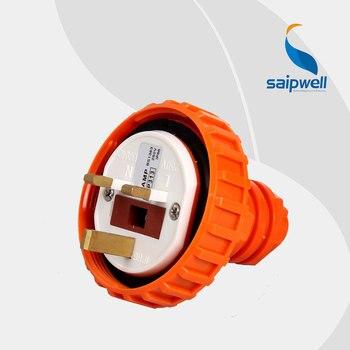SAIPWELL 2014 Nueva 4 P IP66 13A Socket Acoplador Enchufe Industrial Impermeable