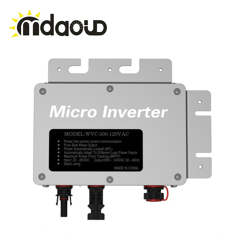 IP67 260W waterproof grid tie solar micro inverter input22-50VDC to 180-260VAC with communication function 22 50v dc to ac110v or 220v waterproof 1200w grid tie mppt micro inverter with wireless communication function for 36v pv system
