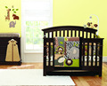 Free shipping sweet zoo Hippo Monkey Elephant Pattern Baby 4pcs Crib Bedding Set 100%Cotton Quilt/Bumper/Fitted/Bed Skirt