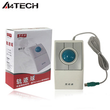 A4tech WT-7 trackball mouse Wired USB mouth 4d trackball mouse for CAD Drawing 3D Max drawing professional mouse