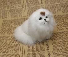 White Simulation Pet Simulation Pekingese Dog Plush Toy 1 Piece Free Shipping