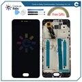 Meizu m3 mini display lcd + touch screen 5.0 polegada digitador assembléia com moldura de substituição para meizu m3 mini telefone móvel