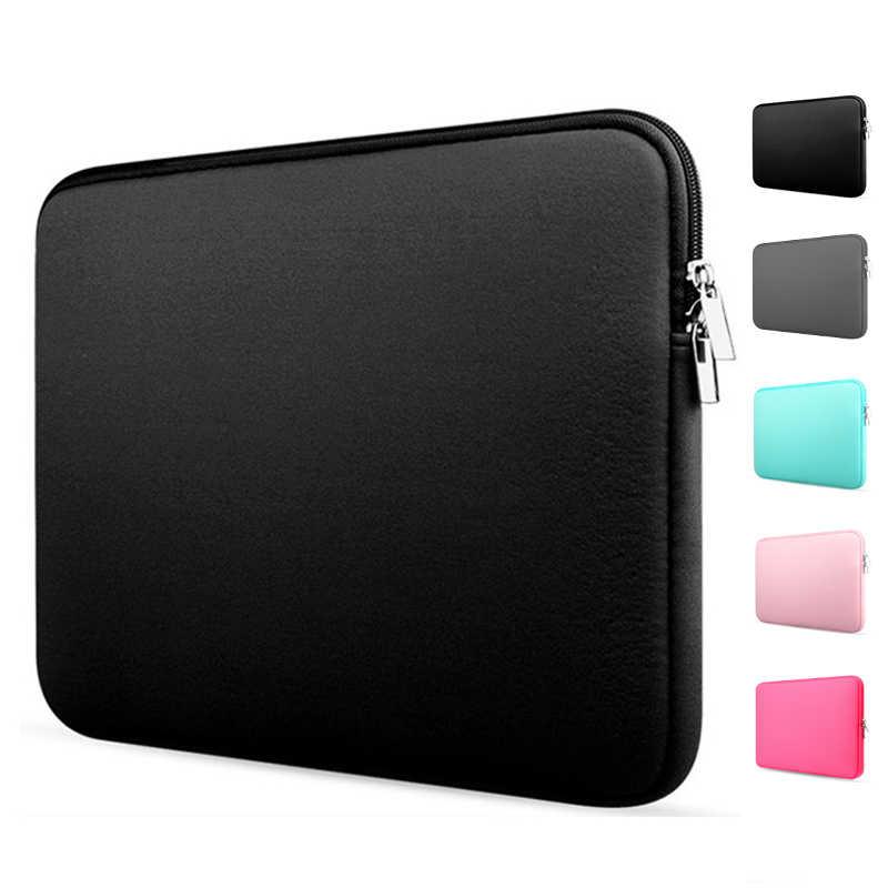 Capa de laptop macia para macbook air pro, capa de retina 11 12 13 14 15 15.6 e manga para xiaomi dell lenovo notebook computador portátil