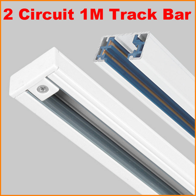 Dhl 1m 3 wire phase 2 circuit aluminium track rail for led spotlight dhl 1m 3 wire phase 2 circuit aluminium track rail for led spotlight lighting track systems aloadofball Image collections
