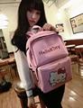 Alta Calidad Mochila de Viaje Mujeres Pink Hello Kitty Bookbag Lindo de Gran Capacidad Hombro Mochila Para Niño Regalo Sbackpacks