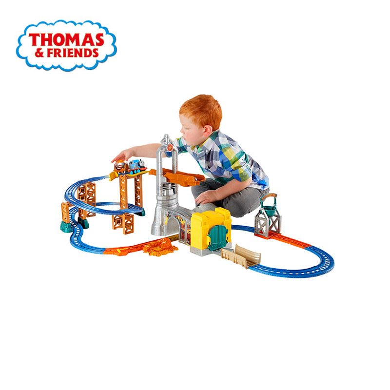 Original Thomas And Friends Electrical Orbital Escape Iron And Steel Factory Diecast Children Educational Boys Gift Toys