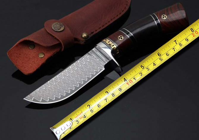 Colletion Damascus font b Knives b font Outdoor Fixed Blade font b Knife b font Survival