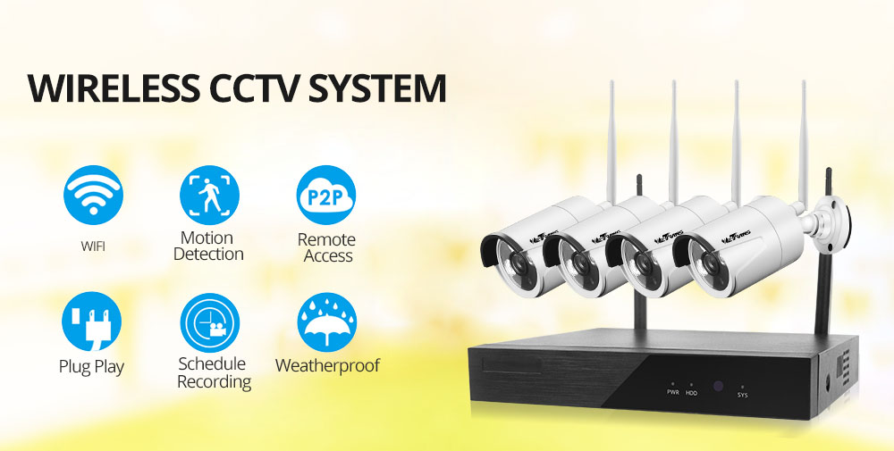 home camera system 4ch 720p wifi camera system