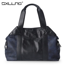 Brand Sxllns Handbag Men Shoulder Bag Canvas Briefcases Fashion Laptop Tote Bag Men's Messenger Bag Business Casual Bag