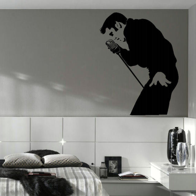 Elvis presley parete grande camera da letto murale art sticker ...