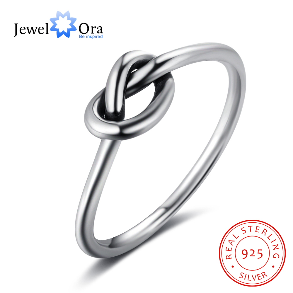Best buy ) }}Knot Design Soild 925 Sterling Silver Rings For Women Fashion Party Jewelry Gifts