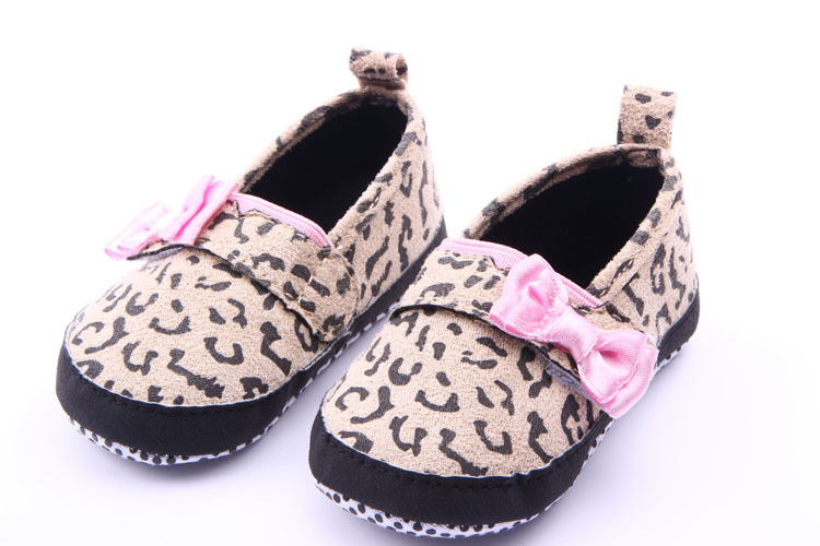 NEW 1pair Leopard First Walker Baby Girl Infant Shoes, Kids/Newborn soft shoes