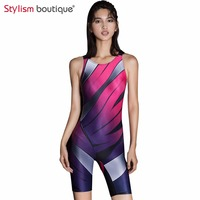 Sport Swimsuits Competitive Swimming Suits Girls Racing Swimwear Women One Piece Swim Suit Competition Swimsuit Knee