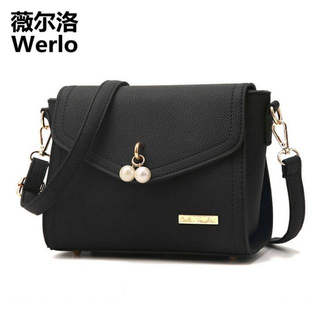 a1282fc8e3dd WERLO Brand Luxury Handbags Women Bags Designer Fashion Women Messenger  Bags Leather Ladies Shoulder Crossbody Bag Bolsas SJ181