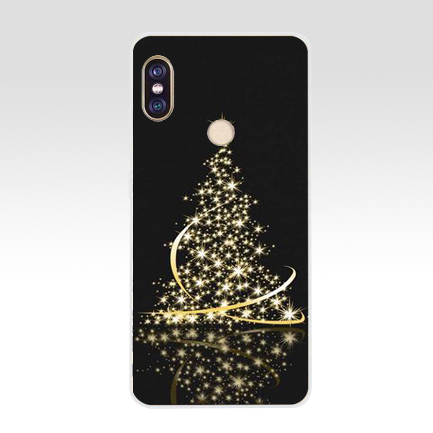 74G Snow Christmas Ball New Year Gift Soft TPU Silicone Cover Case For Xiaomi Redmi 5 Plus Note 5 Pro Mi 8