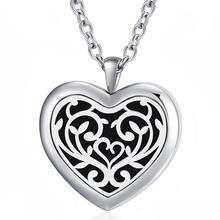 Free with Chain as Gift! Hot Sale 30mm Heart Necklace 316L Stainless Steel Essential Oil Diffuser Necklace Locket Jewelry