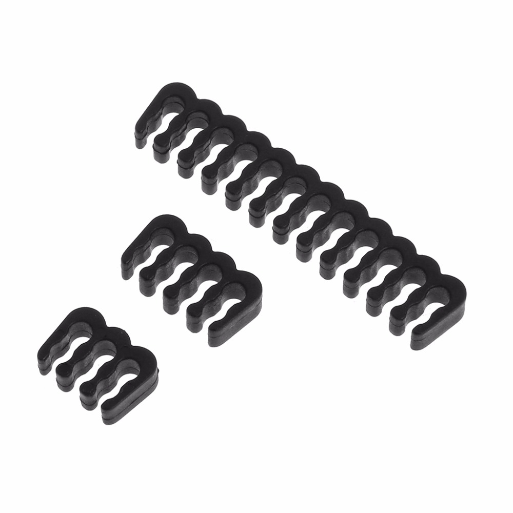 PP <font><b>Cable</b></font> <font><b>Comb</b></font> /Clamp /Clip /Dresser For 3.0-3.2 mm <font><b>Cables</b></font> Black 6/<font><b>8</b></font>/24 <font><b>Pin</b></font> image
