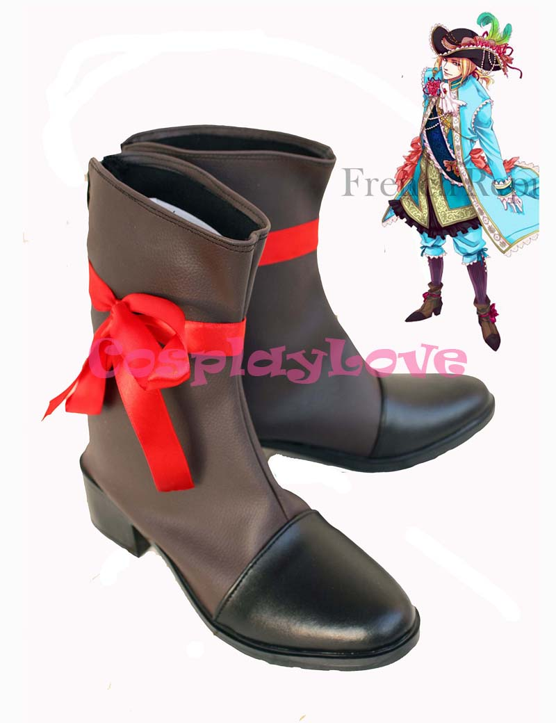 Custom Made France Cosplay Shoes Boots from Axis Powers Hetalia Cosplay For Halloween Christmas