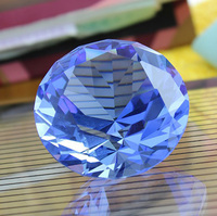 Crystal Diamond 60mm Light Blue High Quality Birthday Gifts Paperweights Crystal Feng Shui Crafts for Home Wedding Decor