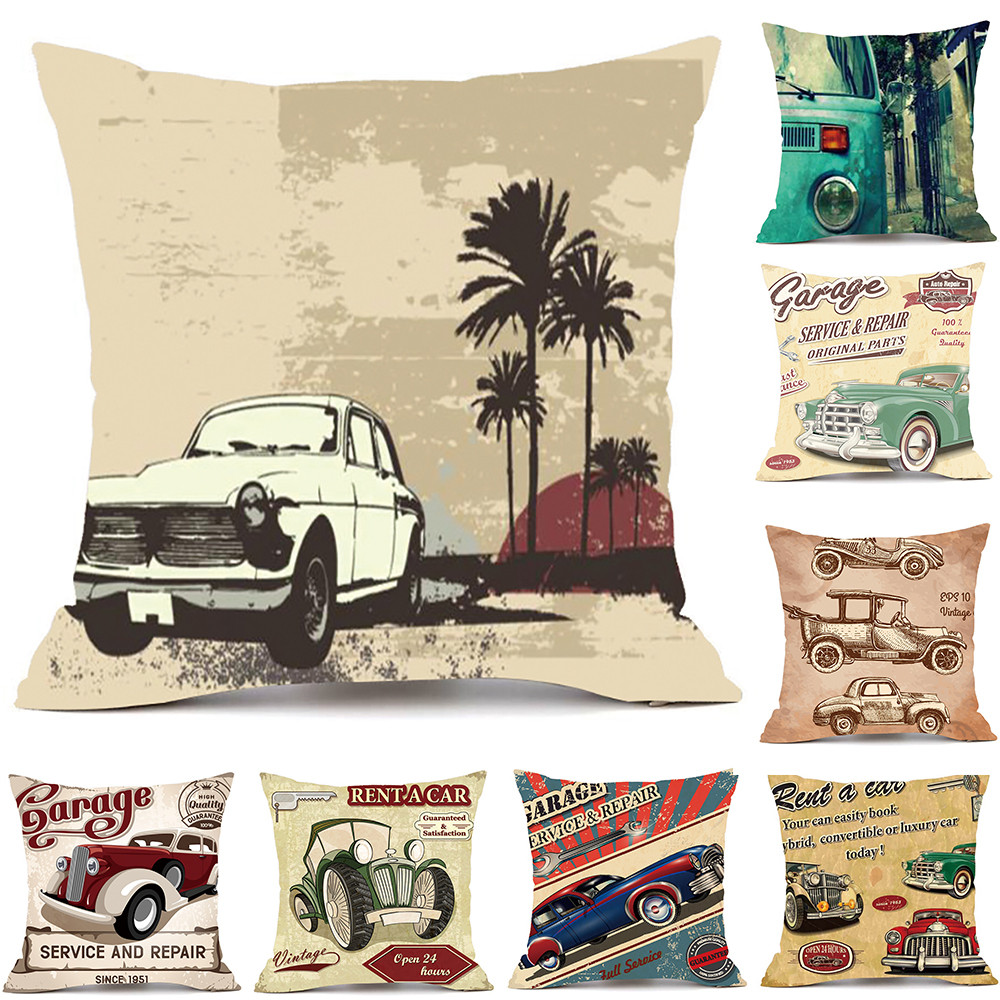 1PC Pillows Cover Decor Pillow Case Sofa Waist Throw Car Pattern Printed Cushion Home Decor Square Decorations For Home Hot Sell