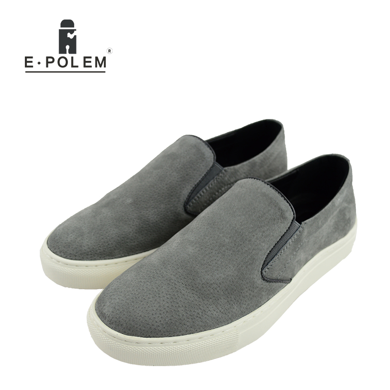 2017 Men Spring Summer Loafers Shoes Breathable Fashion Men Suede Leather Casual Flat Shoes Slip on Comfortable Shoes Student summer casual shoes men loafers comfortable slip on flat shoes breathable canvas shoes fashion solid soft light driving footwear