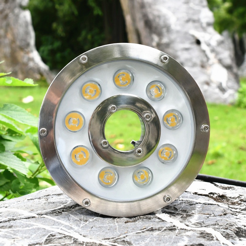 6w 9w 12w 15w 18W 24V Underwater Pond light IP68 White/ Warm White RGB LED fountain light DC12V/24V Swimming Pool light Led 100% ip68 waterproof 304 stainless steel recessed led swimming pool light rgb underwater light 9w white fountain lamp dc24v