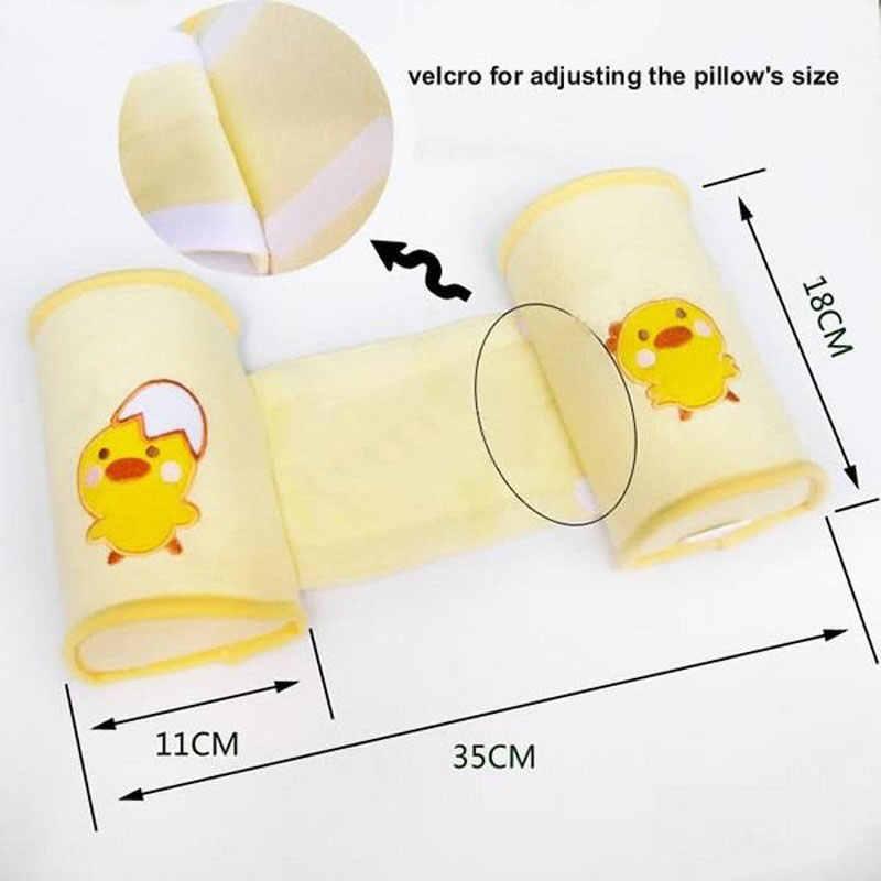 Almohada de lactancia de parachoques de cuna de bebé con espuma de memoria anti-rollover linda de dibujos animados almohada de dormir