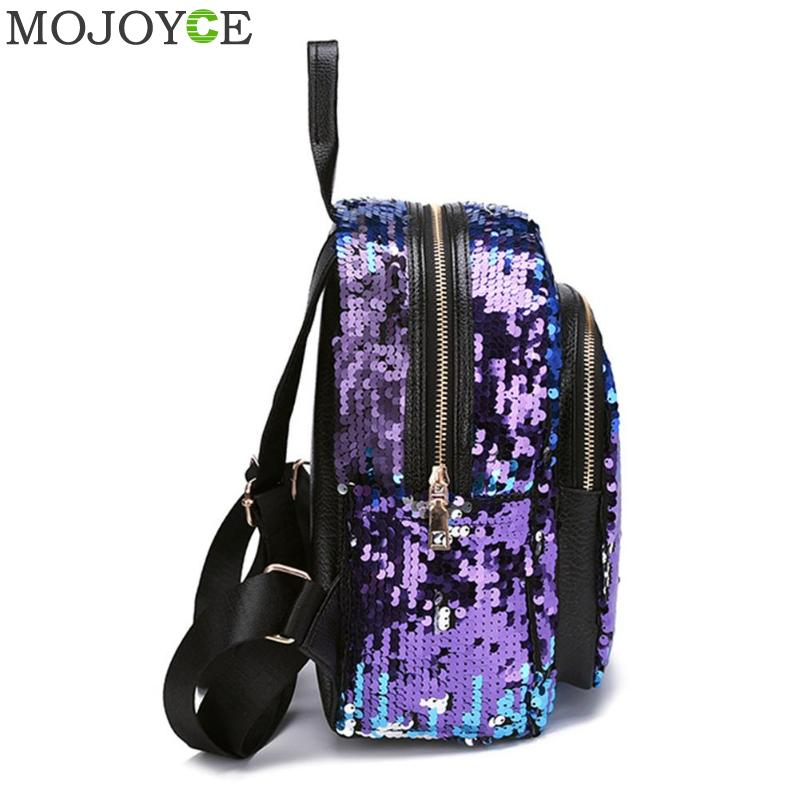 2pcs/set Glitter Sequins Backpack New Teenage Girls Fashion Bling Rucksack Students School Bag With Pencil Case Clutch Mochilas #3