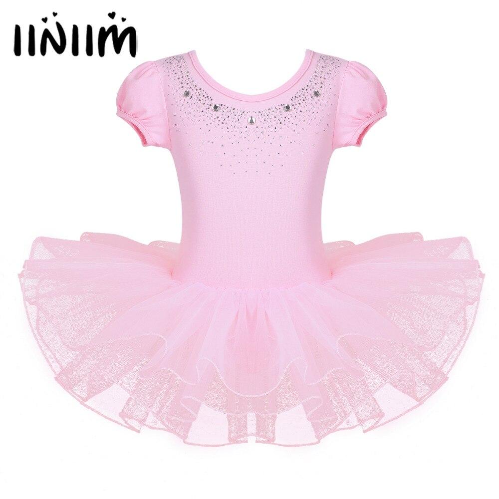iiniim Kids Girls Sports Dance Bra Athletic Stretch Short Crop Top for Ballet Dance Stage Performance Gym Yoga