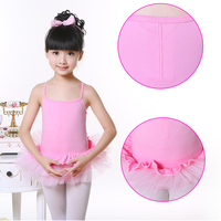 2015 Cheap Cotton Sexy Leotard Cross Back Girl Gymnastics Dance Dress Kids Ballet Tutu Skirt Tulle