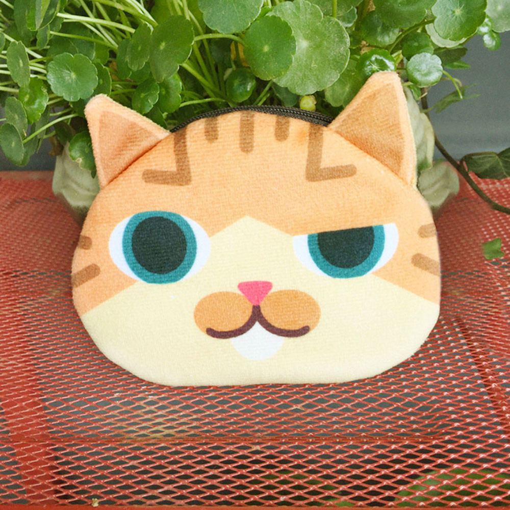 Aelicy 2018 New women girls Fashion 3D Cute Cat Face Printing Zipper Coin Purses Cotton Fabric Cartoon Wallets Small hot sale