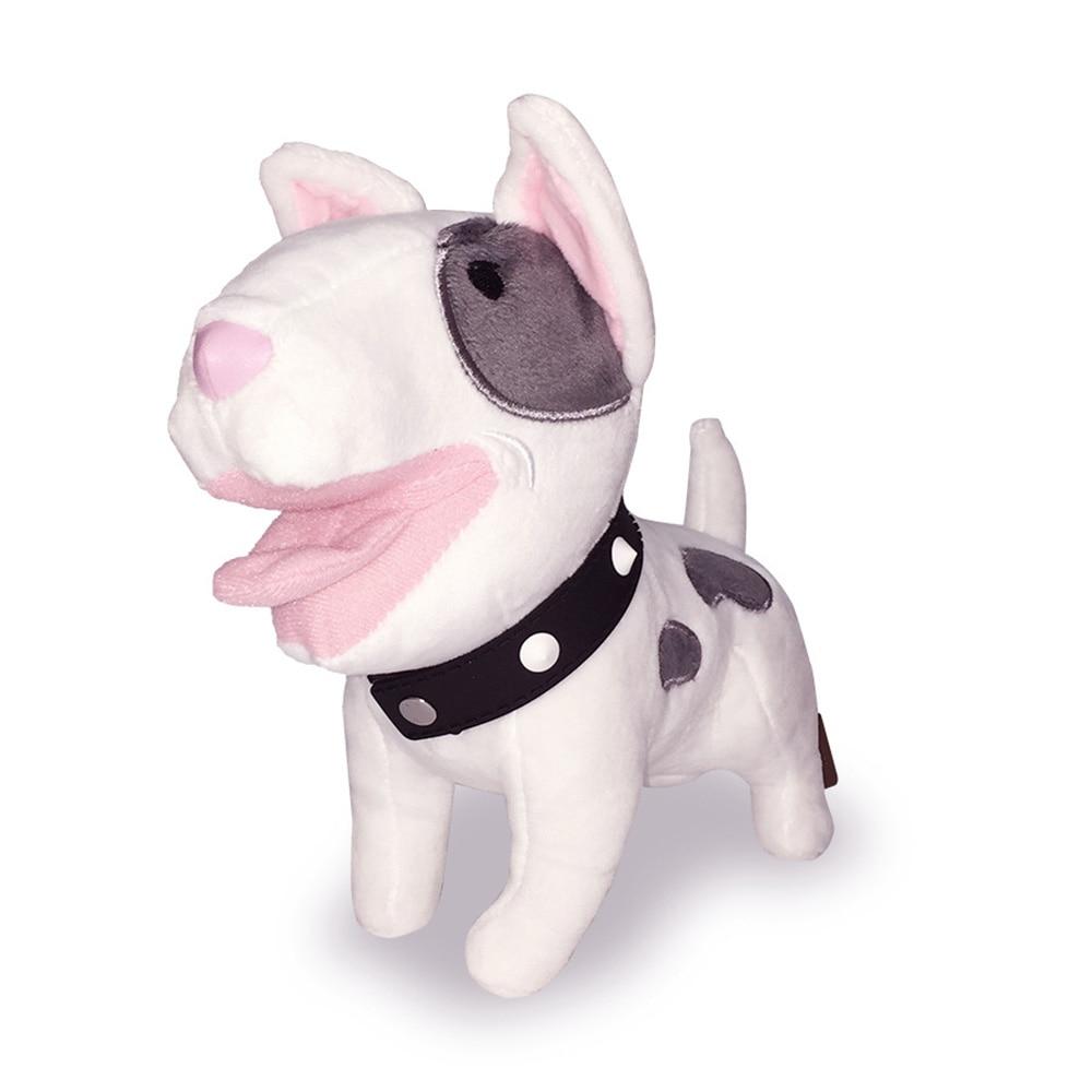 Simulation Dog Bulldog Plush Toy Bull Terrier Shepherd Dog Soft Stuffed Dolls Kids Toys Children Birthday Christmas Gifts Dolls tiny the birthday dog