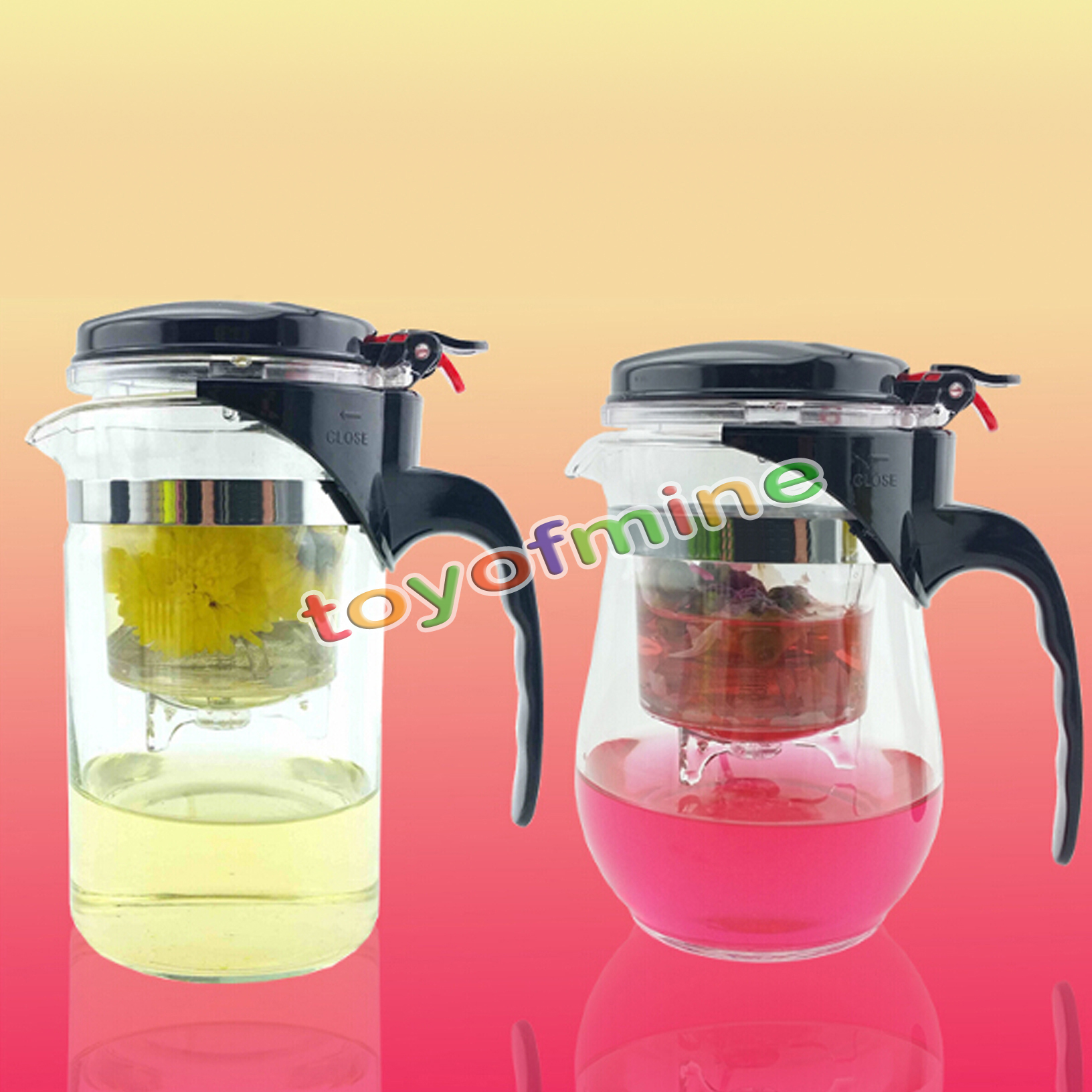 Kettle Style Coffee Maker : 500ml Style A or B Heat Resistant Glass Teapot Chinese Tea Set Puer Kettle Coffee Glass Maker ...
