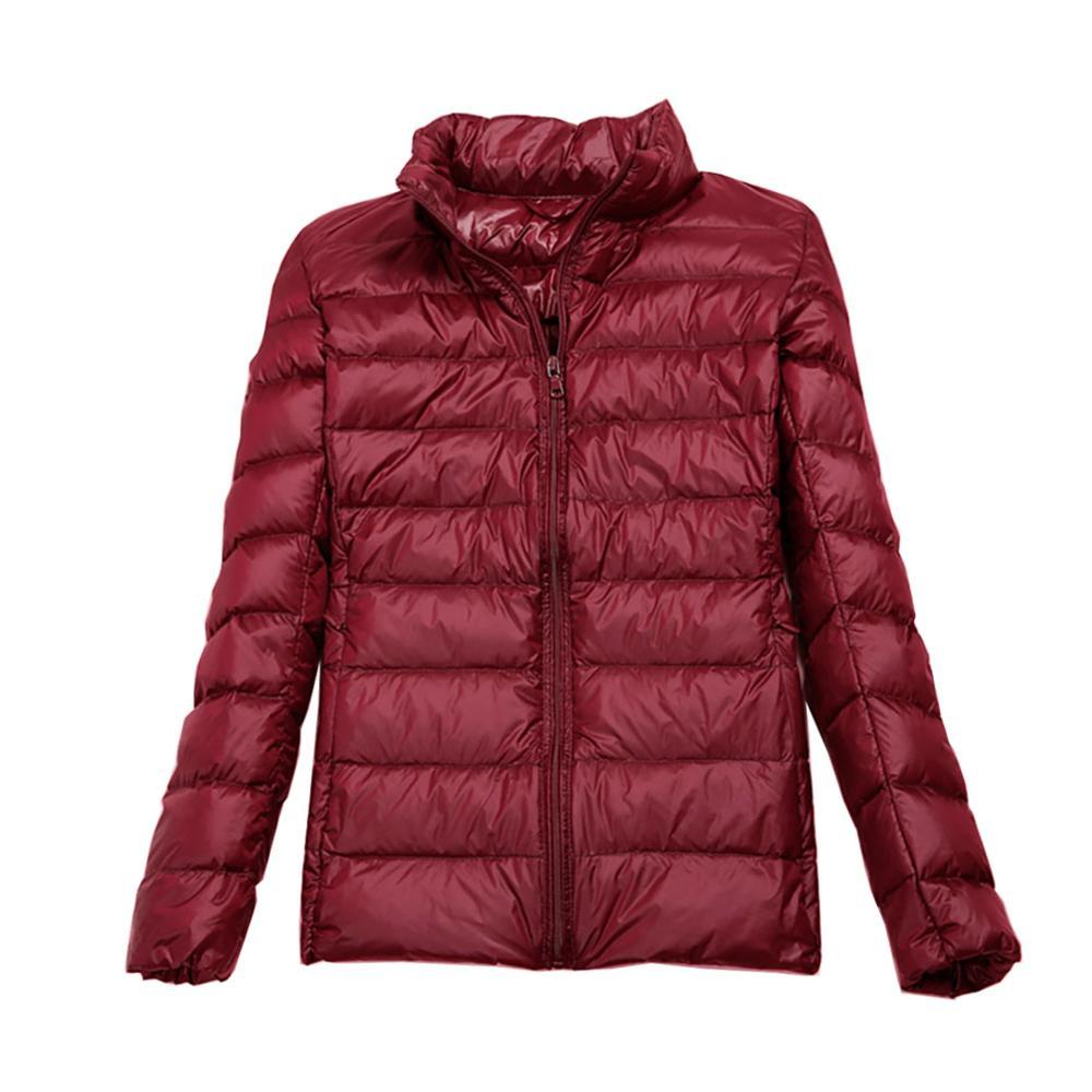 Plus Size Jacket   Down   Women Slim Fit Outwear Spring Autumn Jacket Ultra Light Indoor Winter Jackets Short   Coats   4XL 5XL 6XL 7XL