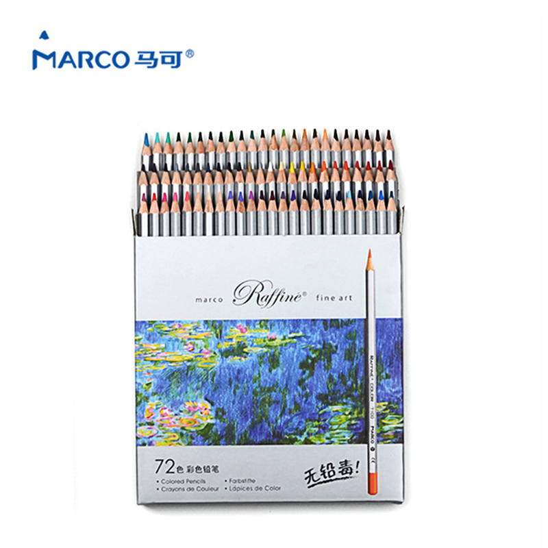 Marco Pencil 72 Colors Pencil Set Watercolor Professional Art Supplies School lapices de color Drawing Pencils Colored Pencil цена