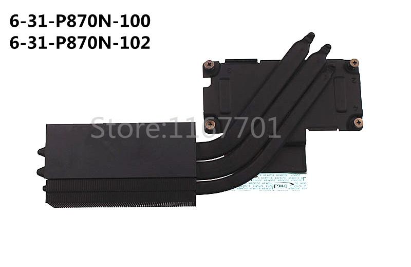 US $55 0 |New Original Laptop/Notebook CPU Cooling radiator heatsink for  Clevo P870 P870DM G 6 31 P870N 102 6 31 P870N 100 module-in Fans & Cooling