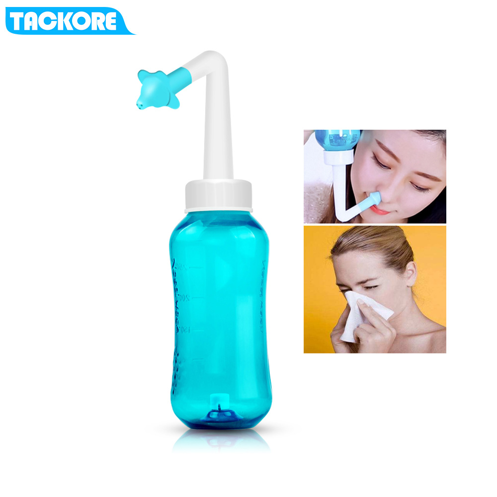 500 Ml With Two Nozzle Adults Children Nasal Wash Cleaner Nose