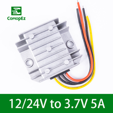 12-24V to 3.7V 5A Buck Voltage Reducer DC Waterproof Step Down Module Power Requency Converter for Car Industrial Equipment стоимость